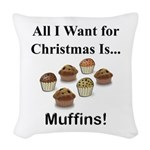 Christmas Muffins Woven Throw Pillow