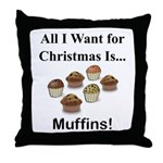 Christmas Muffins Throw Pillow
