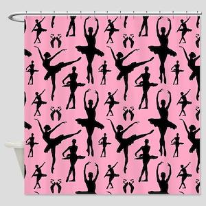 Ballerina Silhouette Shower Curtain