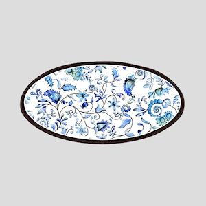 Blue Floral Patches