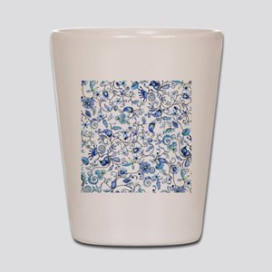Blue Floral Shot Glass