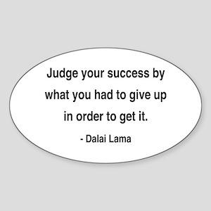 Dalai Lama 8 Oval Sticker