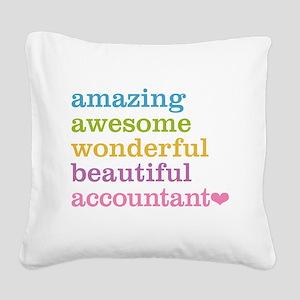 Amazing Accountant Square Canvas Pillow