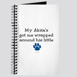 Wrapped Around His Paw (Akita) Journal