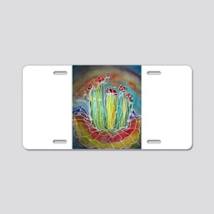 Colorful cactus, art Aluminum License Plate