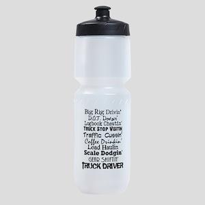 Big Rig Drivin' Sports Bottle