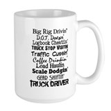 Truck driver Large Mugs (15 oz)