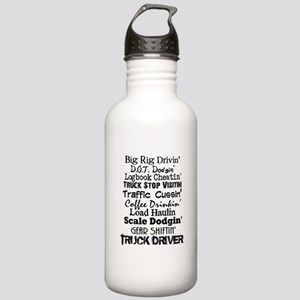 Big Rig Drivin' Stainless Water Bottle 1.0L