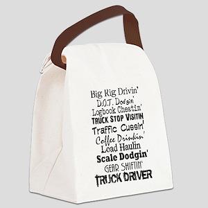 Big Rig Drivin' Canvas Lunch Bag