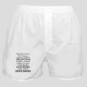 Big Rig Drivin' Boxer Shorts