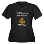Christmas Mo Women's Plus Size V-Neck Dark T-Shirt