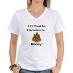 Christmas Money Women's V-Neck T-Shirt