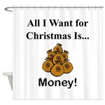 Christmas Money Shower Curtain