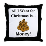 Christmas Money Throw Pillow