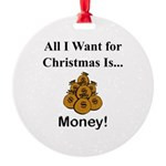 Christmas Money Round Ornament