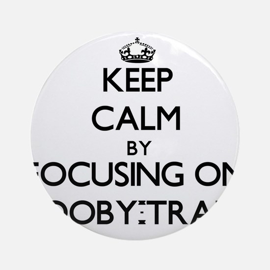 Keep Calm by focusing on Booby-Tr Ornament (Round)