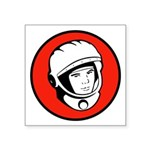 "Yuris Gargarin Icon Square Sticker 3"" X 3&quo"