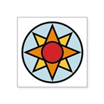 """Ishtar Star Colored Symbol Square Sticker 3"""""""