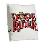 Dope Rider Burlap Throw Pillow