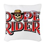 Dope Rider Woven Throw Pillow