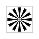 "24-Sided Circle Symbol Square Sticker 3"" X 3&"