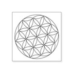 "Seed Of Life Symbol Square Sticker 3"" X 3&quo"
