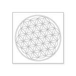 "Flower Of Life Symbol Square Sticker 3"" X 3&q"