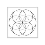 "Germ Of Life Symbol Square Sticker 3"" X 3&quo"