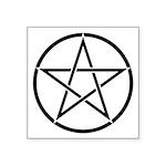 Star Pentagram Inside Circle Square Sticker 3&quot