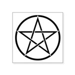 Star Pentagram Inside Circle Square Sticker 3""