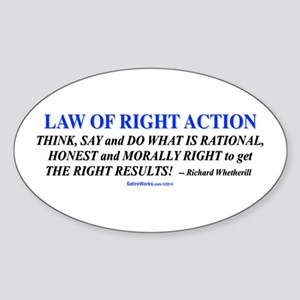 Law Of Right Action Sticker