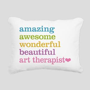 Art Therapist Rectangular Canvas Pillow