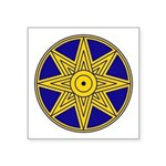 "Ishtar Star Symbol Square Sticker 3"" X 3&quot"