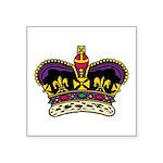 """Colored Crown Symbol Icon Square Sticker 3"""" X"""