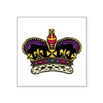 "Colored Crown Symbol Icon Square Sticker 3"" X"