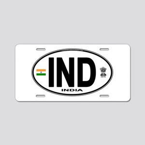 india-euro-oval Aluminum License Plate