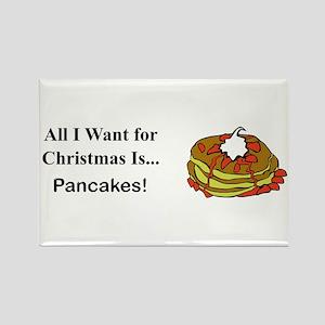 Christmas Pancakes Rectangle Magnet
