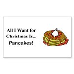 Christmas Pancakes Sticker (Rectangle 10 pk)