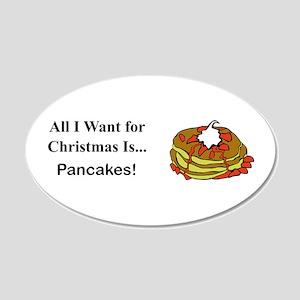 Christmas Pancakes 20x12 Oval Wall Decal