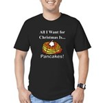 Christmas Pancakes Men's Fitted T-Shirt (dark)
