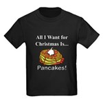 Christmas Pancakes Kids Dark T-Shirt