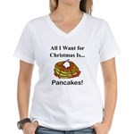 Christmas Pancakes Women's V-Neck T-Shirt