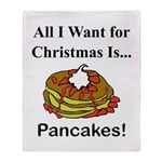 Christmas Pancakes Throw Blanket