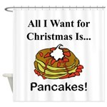 Christmas Pancakes Shower Curtain