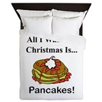 Christmas Pancakes Queen Duvet