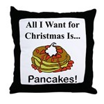 Christmas Pancakes Throw Pillow
