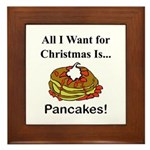 Christmas Pancakes Framed Tile