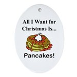 Christmas Pancakes Ornament (Oval)