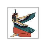 "Egyptian Goddess Maat Square Sticker 3"" X 3&q"