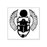 "Egyptian Scarab Symbol Square Sticker 3"" X 3&"